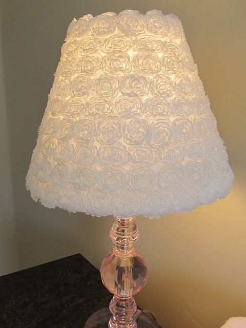 Flower lamp made with flower trim purchased by the yard and glued on...LOVE it!