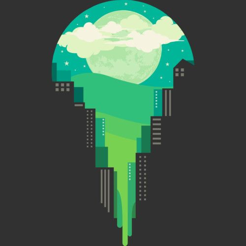 greeny night is a T Shirt designed by alipsatria to illustrate your life and is available at Design By Humans