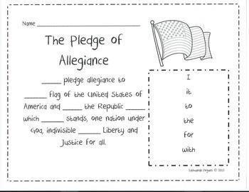 pledge of allegiance sight words sight words pinterest words of and pledge of allegiance. Black Bedroom Furniture Sets. Home Design Ideas