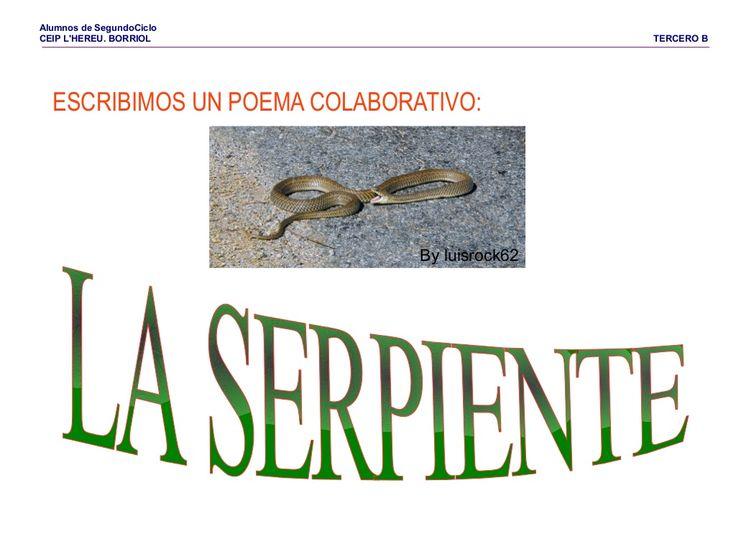 Poema la serpiente by Pilar Garcia Mor via slideshare