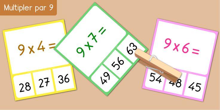 17 best images about multiplication apprendre les tables for Table de multiplication par 99