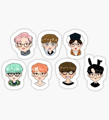 BTS in Glasses Sticker
