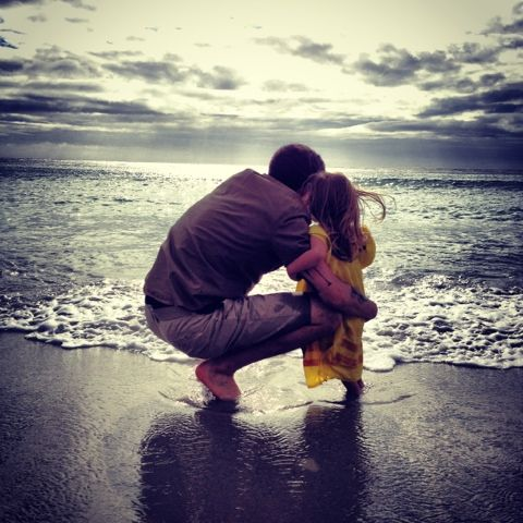 Image result for beach walk dad daughter