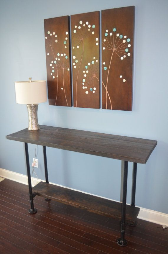 Rustic Buffet Table and Sofa Table  Industrial by TwoVintageDrums