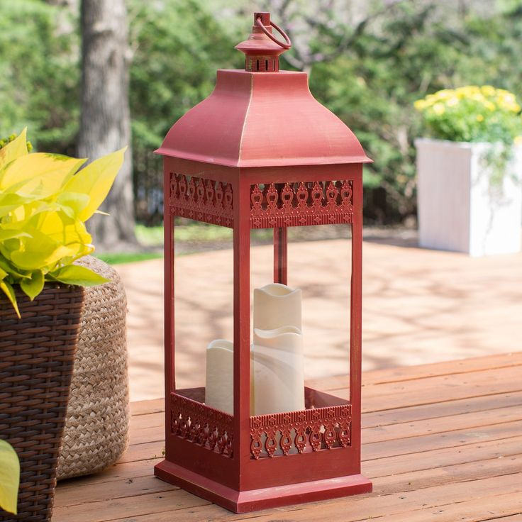 Have to have it. Smart Design San Nicola Lantern with LED Candles - $74.99 @hayneedle