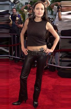 pictures of  angalina jolie in pants.com | ANGELINA JOLIE LEATHER PANTS