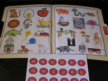 Free Alphabet Kit File Folder Game!