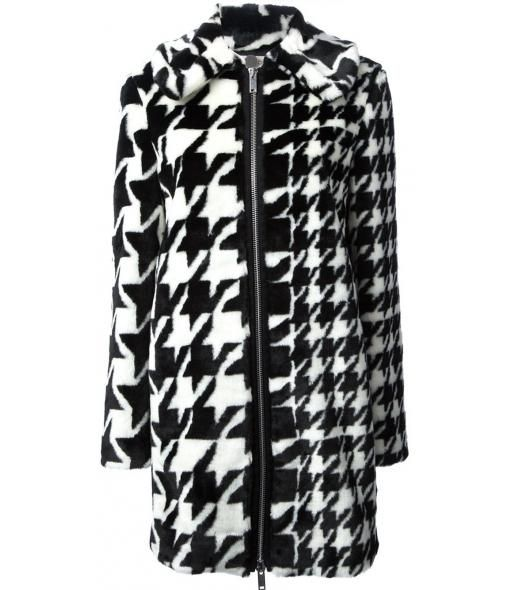 Farfetch - Houndstooth Patterned Coat