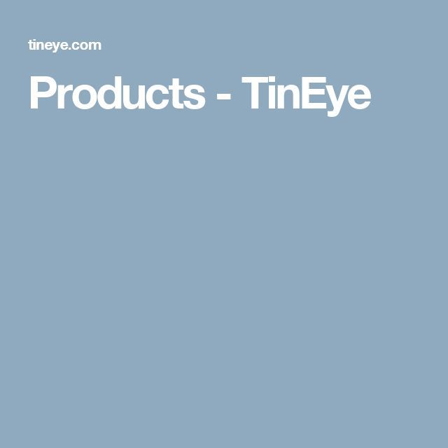 Products - TinEye