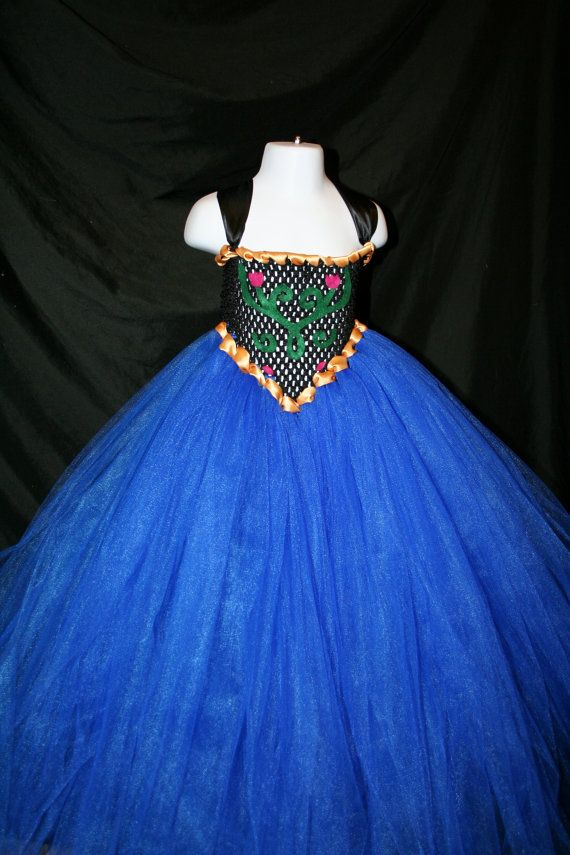 Princess Anna Inspired Tutu Dress Anna by LittleMissTrendyTutu
