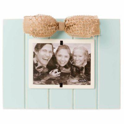 mud pie sea foam bow 5 inch x 7 inch picture frame - Mud Pie Frames