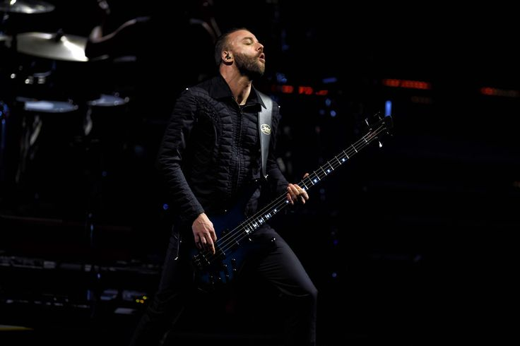 . Muse�s Christopher Wolstenholme performs during their concert at the Staples Center in Los Angeles, Friday, December 19, 1025. (Photo by Hans Gutknecht/Los Angeles Daily News):