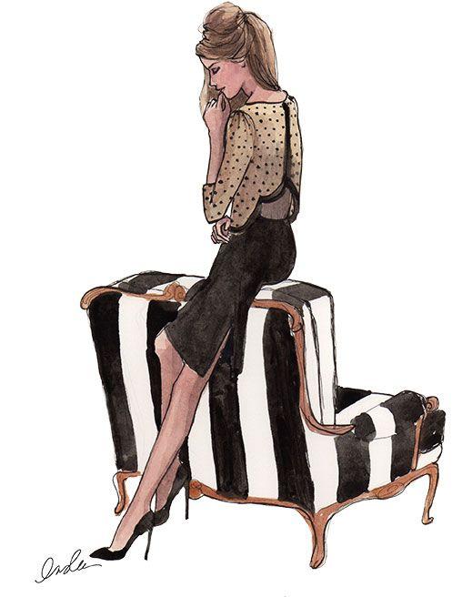 #chic #illustration #art #style #preppy #fashion
