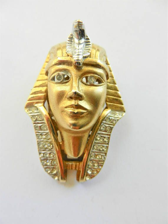 Egyptian Revival 18K Yellow Gold plated on 925 silver sterling