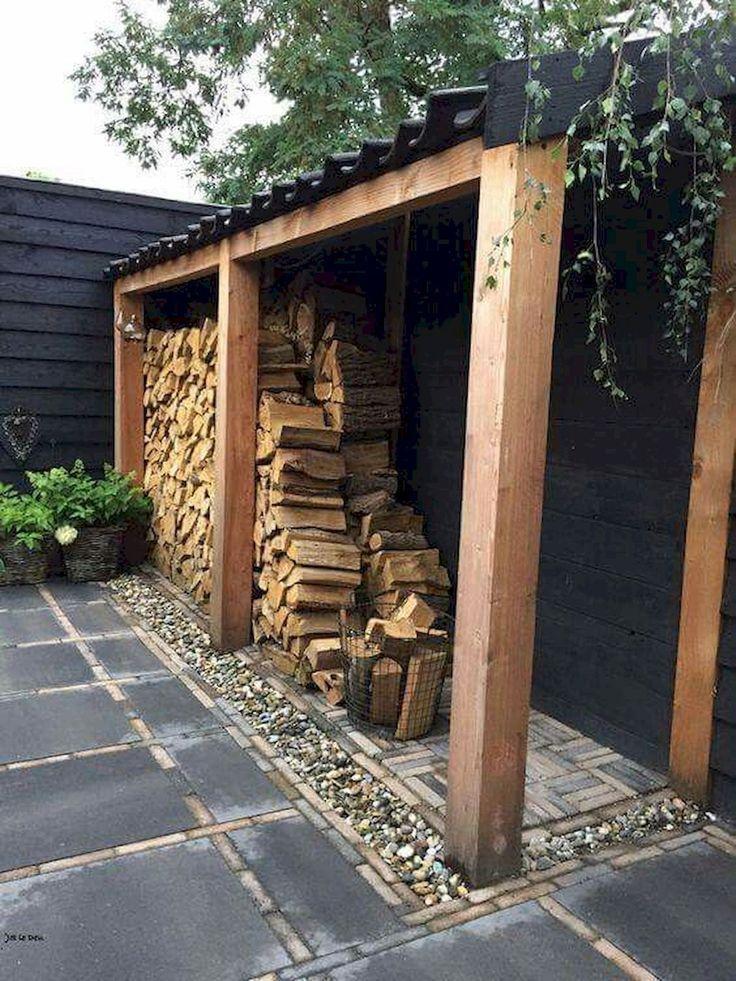 Wunderschöne kreative DIY Outdoor Brennholz Rack Ideen für Lagerung …