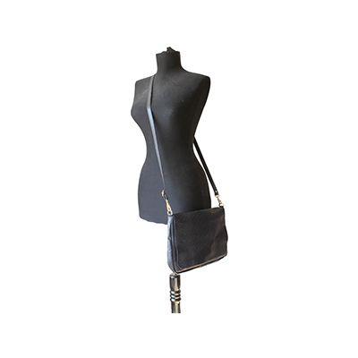 Cora Italian Navy Leather Cross Body Satchel Bag - £64.99