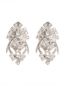 Joëlle Jewellery diamond teardrop earrings - Metallic 1ipNV