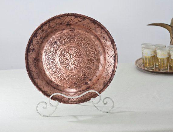 Copper Fruit Bowl Mediterranean Decor Decorative by CozyTraditions, $69.00