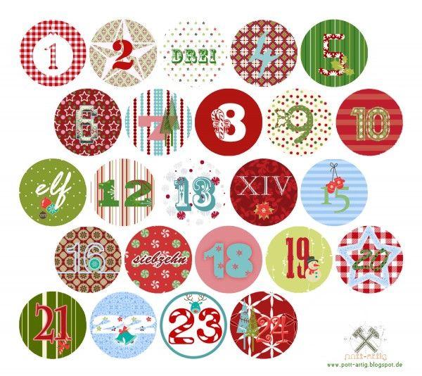 24 - Numbers | Advent calendar . Adventskalender . calendrier de l'avent | http://pott-artig.blogspot.de @ handmadekultur |