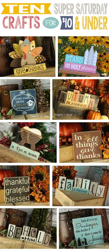 Over 60 Super Saturday Ideas for $5 - $15 in one place!  Super cute craft ideas.  Great  for group craft nights.