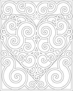 heart #mandala coloring pages - Google Search
