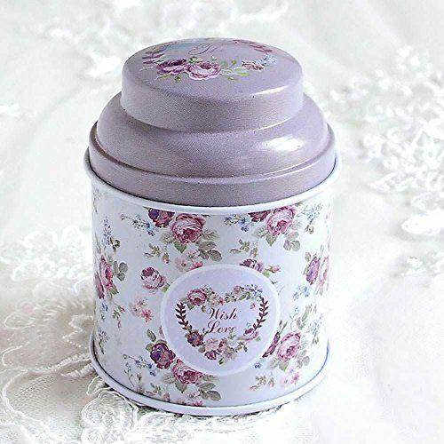 HuntGold floral joint double couche chariot à thé boîte de bonbons conteneur ménager(violet): C'est un conteneur de stockage de nourriture…