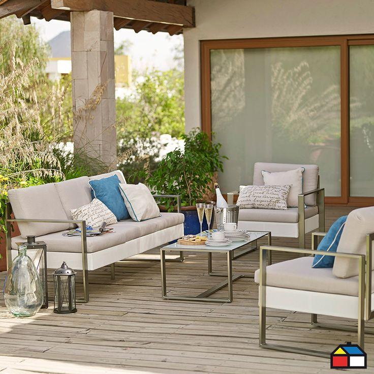 Juego Creta de aluminio brush taupe 4 piezas #terraza #jardin