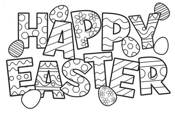 33 'Happy Easter Coloring Pages' Free Printable Pictures
