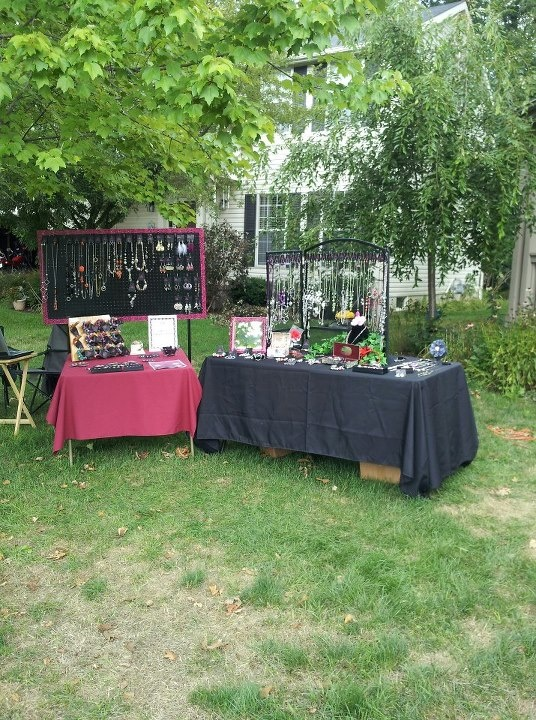 Our Yard Sale Display - Summer 2012