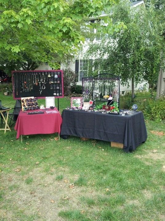 Our Yard Sale Display - Summer 2012