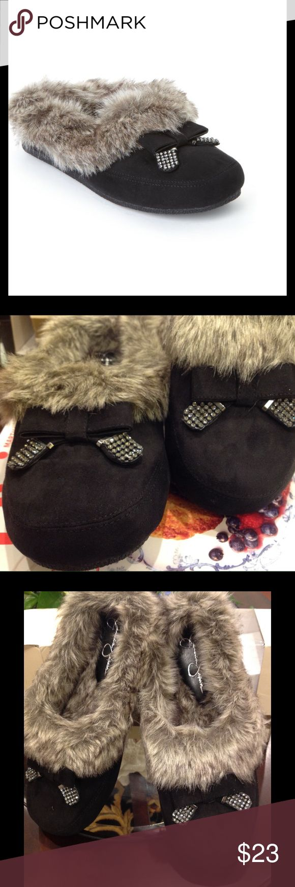 JESSICA SIMPSON SLIPPERS Super cute and plush slippers with non skid bottoms. Material microsuede. Brand new. Still in original box. Jessica Simpson Shoes Slippers