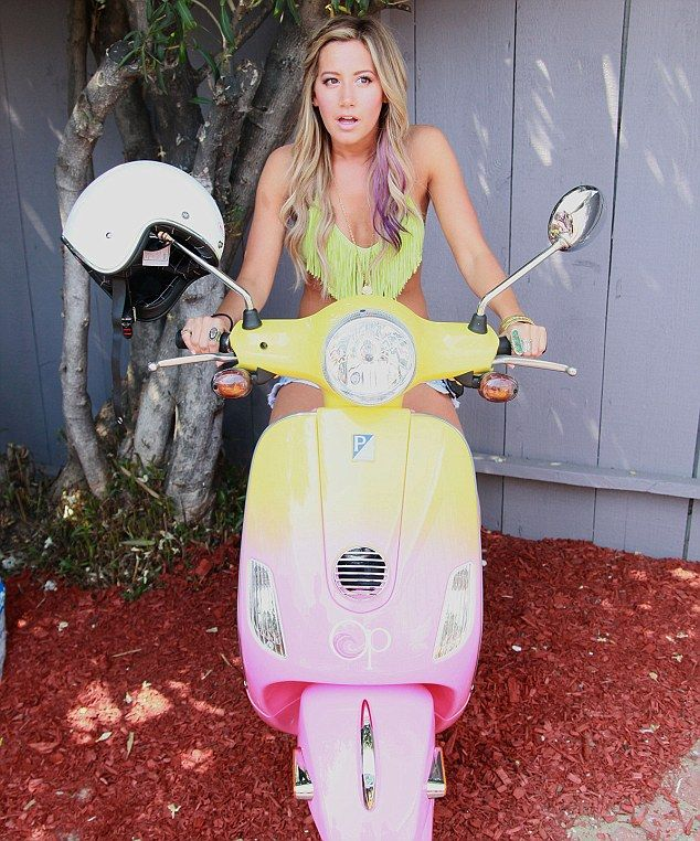 Ashley tisdale yellow bikini
