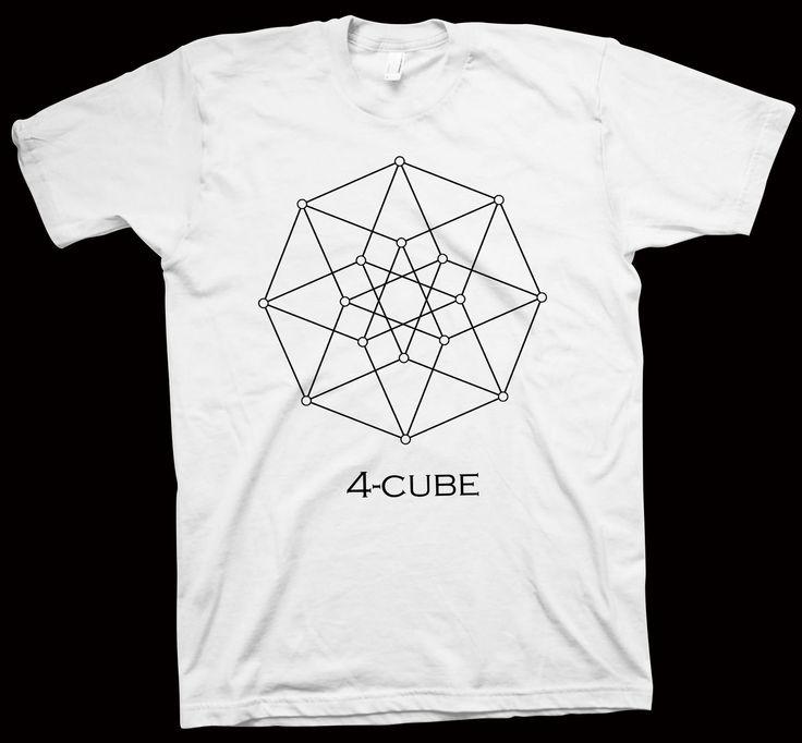 Four Cube T-Shirt , Mathematics , Geometry , Science , Geek Tee , Nerdy Tee - T-Shirts