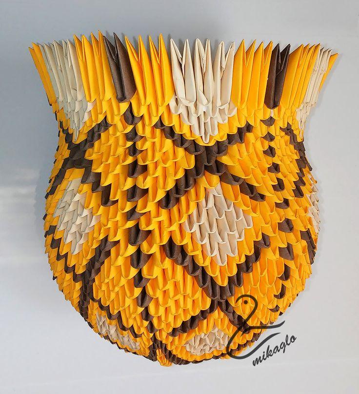 Vase 3d Origami Diagram: 54 Best How To Make 3D Origami Vase Tutorial Images On