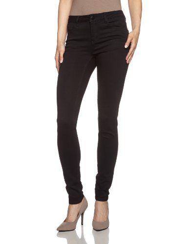 PIECES Damen Skinny Hose JUST JUTE R.M.W. LEGGING/BLACK NOOS, Gr. 38 (Herstellergröße: S/M), Schwarz