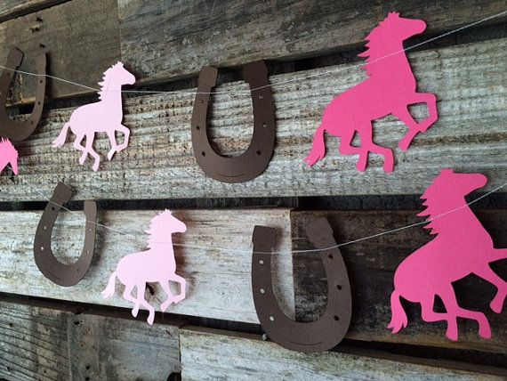 Cowgirl Party Garland Baby Shower Photo Prop by BlueOakCreations