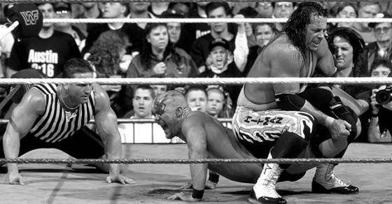 """""""Stone Cold"""" Steve Austin analyzes his memorable WrestleMania 13 match against Bret Hart on the latest episode of """"The Steve Austin Show"""" podcast."""
