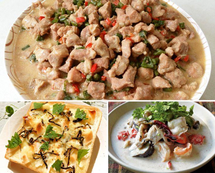 ココナッツ 効能・効果と食べ方   スーパーフード《Super Foods》 ★ココナッツの風味が爽やかなフィリピンの郷土料理 《 サヤインゲンと豚肉のココナッツ煮 》 ●材料 ◎サヤインゲン(斜め切り)・・・150g ◎豚肉(角切りor薄切り)・・・200g ◎にんにく(スライス)・・・3片 ◎玉ねぎ(薄切り)・・・1個 ◎唐辛子(輪切り)・・・3本 ◎コンソメキューブ・・・1 ◎Shrimp Paste(海老味噌)・・・適量 ◎ココナッツミルク・・・3カップ ◎サラダ油・・・適量 ◎水・・・1カップ  ★包丁要らずのお手軽冒険。ココナッツチップスと塩昆布、大葉を合わせたトースト 《 ココナッツ×塩昆布のトースト 》 ●材料(1食分)◎食パン・・・1枚 ◎ココナッツチップス・・・2つまみ程度 ◎塩・・・少々 ◎レモン汁・・・小さじ1/2~ ◎ピザ用チーズ・・・ひとつまみ ◎塩昆布・・・軽くひとつまみ ◎マヨネーズ・・・適量 ◎エキストラバージンオリーブオイル・・・小さじ1/2 ◎大葉・・・1枚 ◎一味・七味など・・・お好みで少々