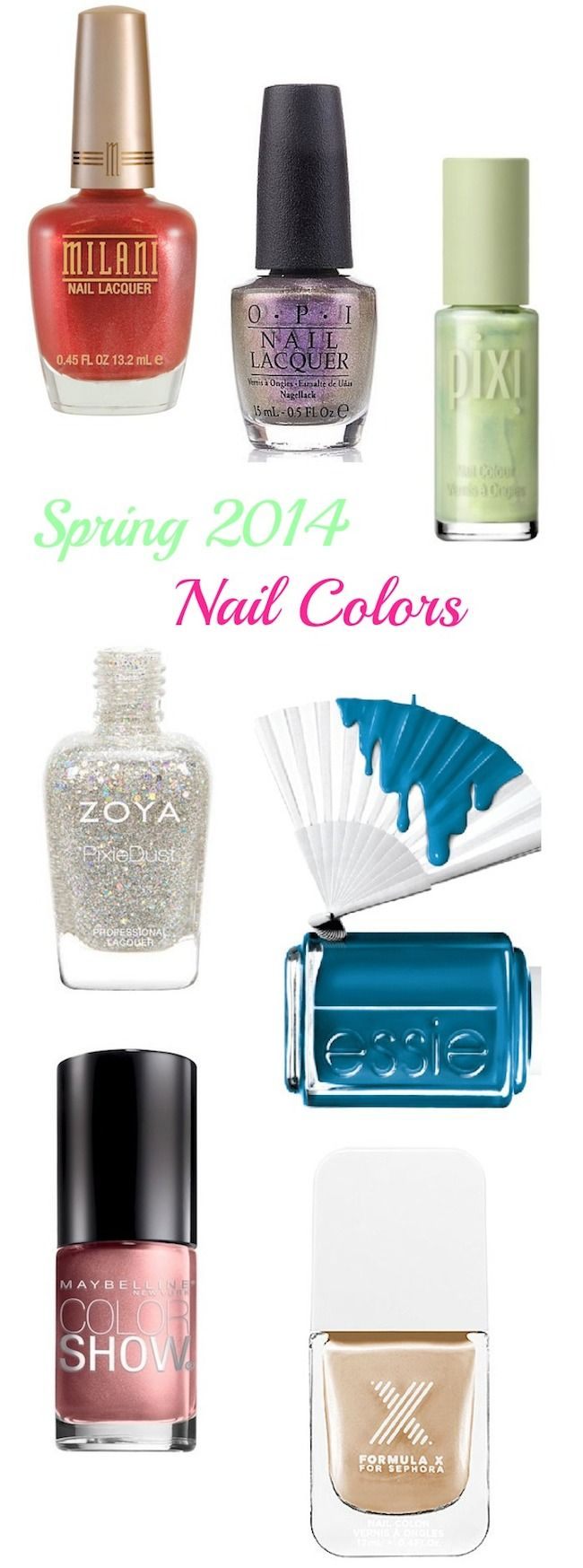 Beat the winter blues with these Hot Nail Colors for Spring via @BeautyTidbits #spring #nails #nailcolors