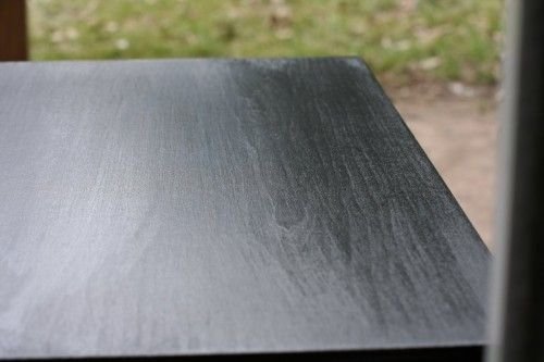 That's the extent of my painting wisdom…in a nutshell, if you sand thoroughly, clean the dust off well, prime with several thin coats, and paint with several thin coats, you should be able to turn out a piece of furniture with a smooth, durable finish. Also, for chairs this site has great tips: http://southernhospitalityblog.com/furniture-updating-with-black-spray-paint/#
