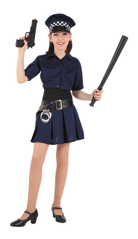 DisfracesMimo, disfraz de policia niña varias tallas. Con este traje de Policía infantil te convertirás en un auténtico agente de la justicia. Este disfraz es ideal para tus fiestas temáticas de disfraces de policias infantiles. fabricacion nacional.