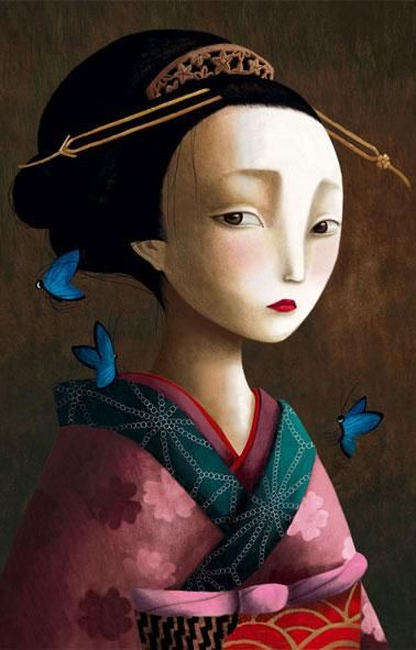 Illustration by Benjamin Lacombe from Los Amantes Mariposa
