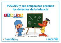 Pocoyó y sus amigos nos enseñan los derechos de la infancia.Fichas para colorear