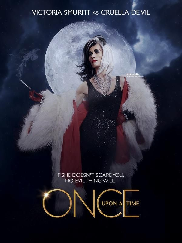 Victoria Smurfit as (Cruella Devil) #QueensOfDarkness #OnceUponATime