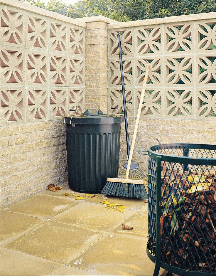 Screenwall: It's quick, and easy to lay and is ideal for sitting atop other walling. Its interesting leaf pattern adds visual detail, plus there are pier caps and saddleback coping available to further complement the walling.