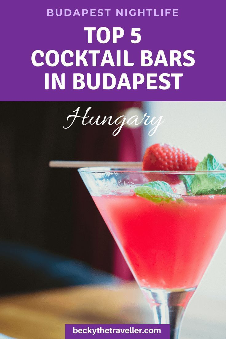Budapest Nightlife Low Calorie Cocktails Skinny Cocktails Martini Recipes
