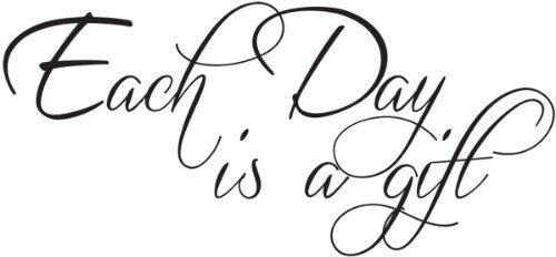 Each day is a gift wall quote wall decals wall decals quotes by WallDecalQuote, http://www.amazon.com/dp/B00CDYYGTC/ref=cm_sw_r_pi_dp_ErtPrb0Z73EXV