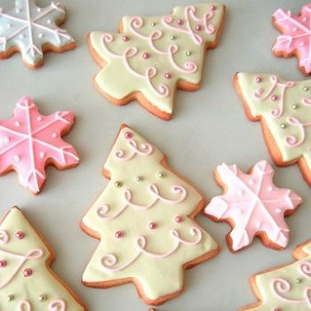 Decoración de galletas navideñas