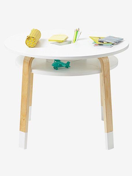 Runder Spieltisch für Kinder - WEIß/NATUR - 5