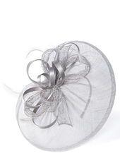 BHS ...Silver Lacey Loop Disc Fascinator